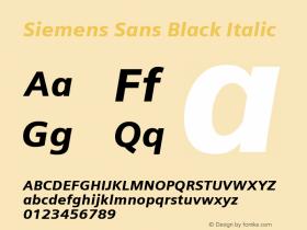 Siemens Sans Black Italic Version 6.000图片样张