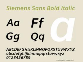 Siemens Sans Bold Italic Version 6.000;PS 5.00;hotconv 1.0.38图片样张