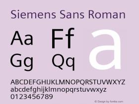 Siemens Sans Roman Version 6.000;PS 5.00;hotconv 1.0.38图片样张