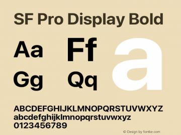 SF Pro Display Bold Version 16.0d18e1图片样张