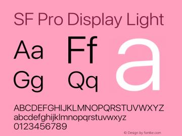 SF Pro Display Light Version 16.0d18e1图片样张