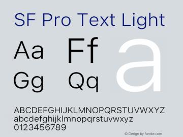 SF Pro Text Light Version 16.0d18e1图片样张