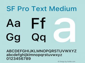 SF Pro Text Medium Version 16.0d18e1图片样张