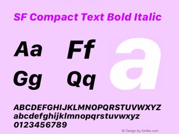 SF Compact Text Bold Italic Version 16.0d18e1图片样张