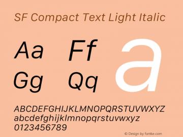 SF Compact Text Light Italic Version 16.0d18e1图片样张