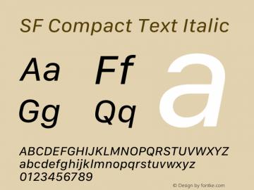 SF Compact Text Italic Version 16.0d18e1图片样张