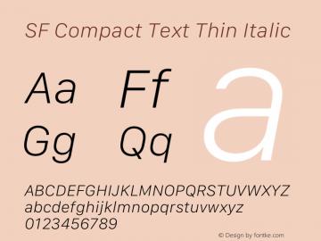 SF Compact Text Thin Italic Version 16.0d18e1图片样张