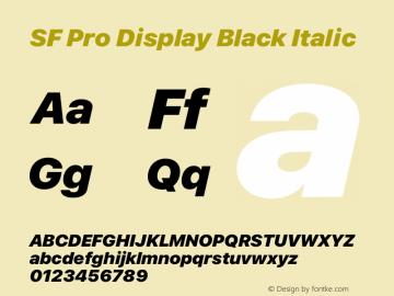 SF Pro Display Black Italic Version 16.0d18e1图片样张