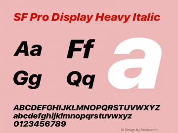SF Pro Display Heavy Italic Version 16.0d18e1图片样张