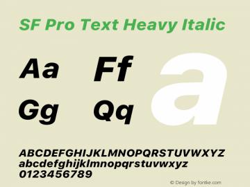 SF Pro Text Heavy Italic Version 16.0d18e1图片样张