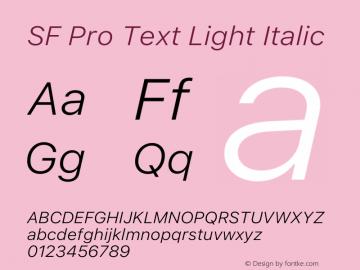 SF Pro Text Light Italic Version 16.0d18e1图片样张