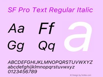 SF Pro Text Regular Italic Version 16.0d18e1图片样张