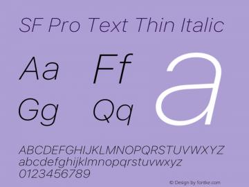 SF Pro Text Thin Italic Version 16.0d18e1图片样张