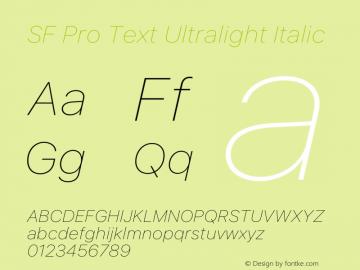SF Pro Text Ultralight Italic Version 16.0d18e1图片样张
