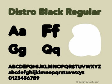 Distro Black Regular 1.2图片样张