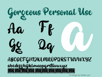 Gorgeous Personal Use Version 1.001;Fontself Maker 3.5.2图片样张