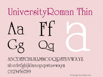 UniversityRoman Thin Version 001.000图片样张