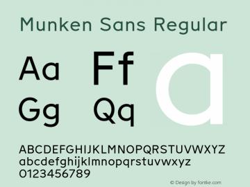 Munken Sans Version 1.001; build 0007图片样张