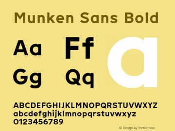 Munken Sans Bold Version 1.001; build 0007图片样张