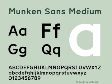 Munken Sans Medium Version 1.001; build 0007图片样张