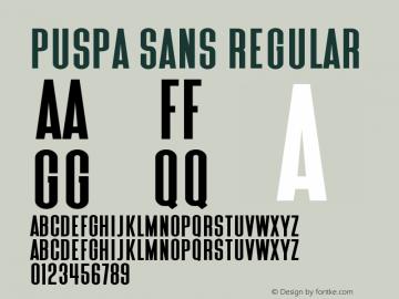 Puspa Sans 图片样张