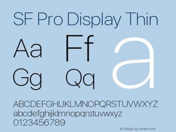 Apple Font W2 Version 15.0d4e20图片样张