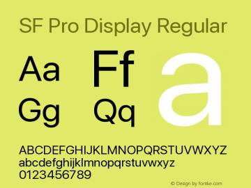 Apple Font W4 Version 15.0d4e20图片样张