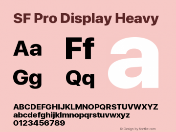 Apple Font W8 Version 15.0d4e20图片样张