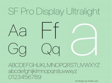 Apple Font W1 Version 1.00;November 13, 2020;FontCreator 13.0.0.2675 64-bit图片样张