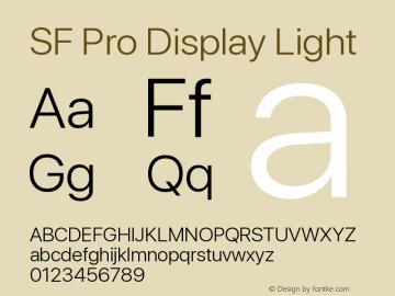 Apple Font W3 Version 15.0d4e20图片样张