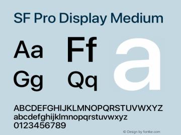 Apple Font W5 Version 15.0d4e20图片样张