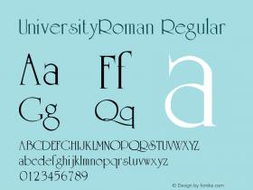 UniversityRoman Regular Altsys Metamorphosis:5/4/93图片样张