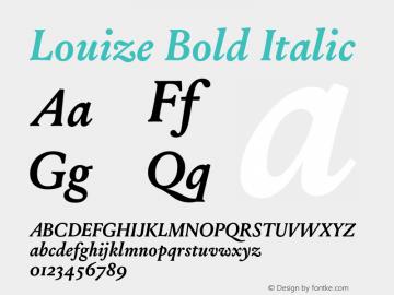 Louize-BoldItalic Version 1.000图片样张