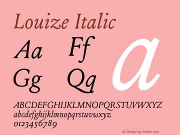 Louize-Italic Version 1.000图片样张