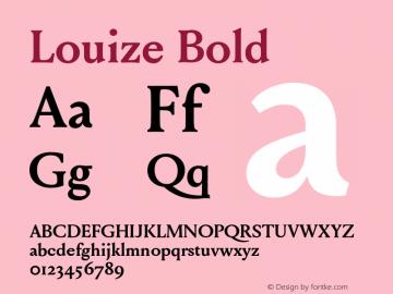 Louize-Bold Version 1.000图片样张