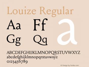 Louize-Regular Version 1.000图片样张