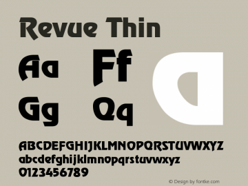 Revue Thin Version 001.000 Font Sample