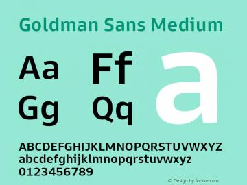 Goldman Sans Medium Version 1.100图片样张