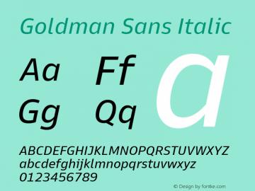 Goldman Sans Italic Version 1.100图片样张