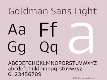 Goldman Sans Light Version 1.100图片样张
