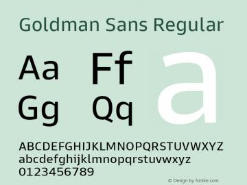 Goldman Sans Regular Version 1.100图片样张