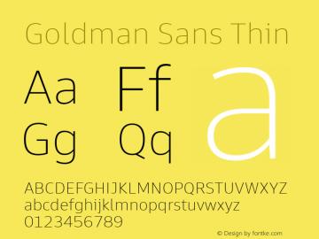 Goldman Sans Thin Version 1.100图片样张