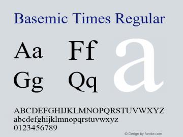 Basemic Times Regular Version 1.0 Font Sample