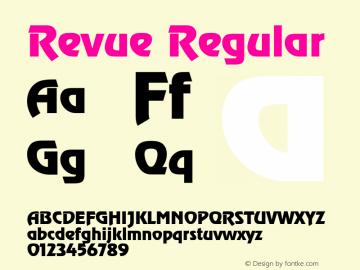 Revue Regular Unknown Font Sample