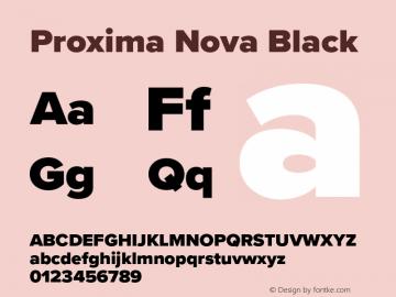 Proxima Nova Black Version 3.018;PS 003.018;hotconv 1.0.88;makeotf.lib2.5.64775图片样张