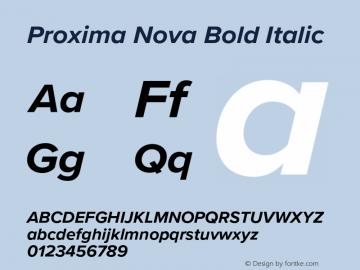 Proxima Nova Bold It Version 3.018;PS 003.018;hotconv 1.0.88;makeotf.lib2.5.64775图片样张