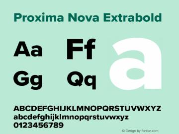 Proxima Nova Extrabold Version 3.018;PS 003.018;hotconv 1.0.88;makeotf.lib2.5.64775图片样张