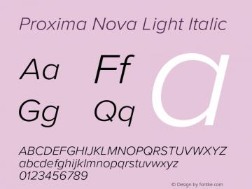 Proxima Nova Light It Version 3.018;PS 003.018;hotconv 1.0.88;makeotf.lib2.5.64775图片样张