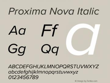 Proxima Nova It Version 3.018;PS 003.018;hotconv 1.0.88;makeotf.lib2.5.64775图片样张