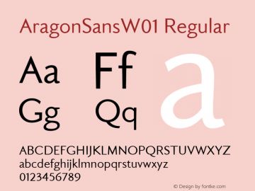 Aragon Sans W01 Version 1.00图片样张